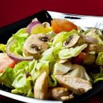 салат цезарь с грибами