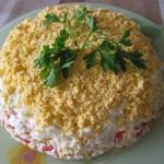 грибы в слоеном салате