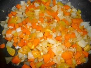 овощи для минестроне на сковороде